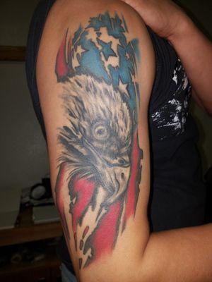 #americanflag #eagle #merica Americanflag #color #blackandgrey