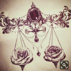 #zodiac #libra #scales #roses #ornamental #futuretattoo #notmypicture