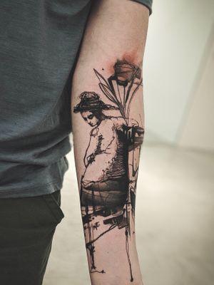 Illustrative tattoo by La Bottega dell'Arte #LaBottegadellArte