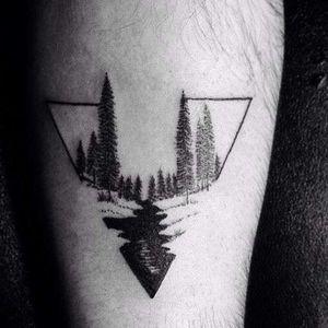 #triangletattoo #dotworktattoo #smalltattoos #foresttattoo #treestattoo
