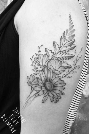 #justinclaydilmore #sandiego #sandiegotattooartist #flower #flowers #flowertattoo #floral #floraltattoo #dotwork #dotworktattoo #blackwork #blackworktattoo #blackandgrey #blackandgreytattoo #tattooartist #tattooart #tattoooftheday #art #ink #inked