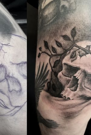 Freehand elbow filler