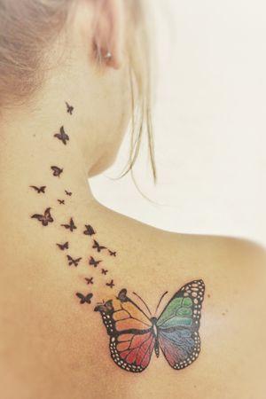 Butterflies #butterflytattoo #butterfly #colourtattoo #Butterflies