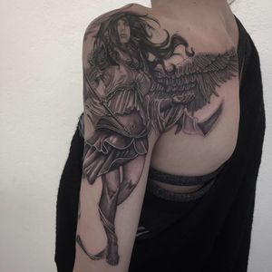 @realistic.ink @tattoorealistic #photooftheday #tattoo #tatouage #realistictattoo #realistic #realism #realismtattoo #angel #angeltattoo #blackandgreytattoo #blackandgrey #lausanne #lausannetattoo #tattoolausanne #lespetitspointsdefanny