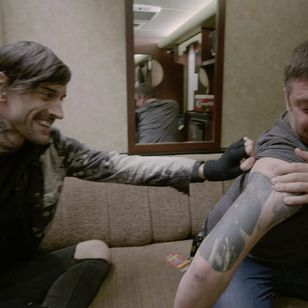 Joe Letz and Wes Borland #JoeLetz #WesBorland #LimpBizkit #MusinkFest #Musink #musicfestival #tattooconvention #TravisBarker