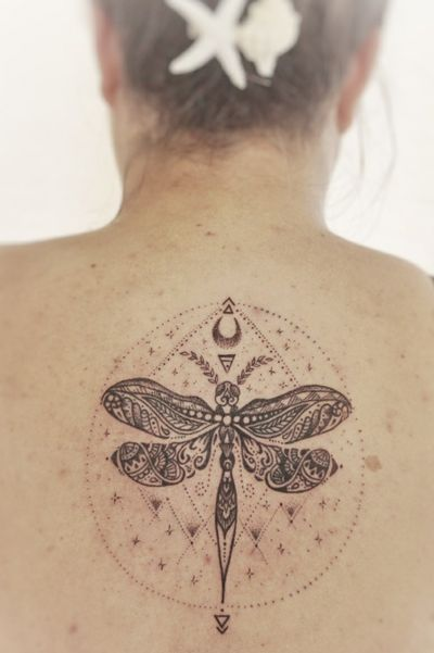 Ornamental dragonfly #dragonfly #dragonflytattoo #ornamentaltattoo #ornamental #dotwork
