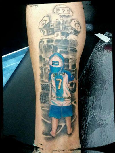 #tattoo #futbol #soccer #barrio #potrero #argentinatattoo #Argentina #pelota