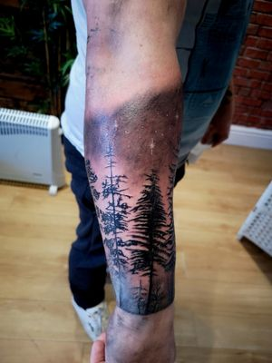 Trees with shading, start of sleeve