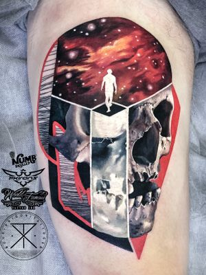 Really fun skull for Alex from Singapore. Thanks for flying over dude !! Really keen to do more skull tattoos !!