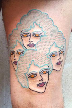 Multi head #tattoos #traditionaltattoos #tattooart #tattooartist #tttism #tattoodesign #tattooitalia #boldwillhold #inkcultr #ssoo #tattooistartmagazine #tattoooftheday #traditionaltattoos #ink #inked #bright_and_bold #weirdotattooing #tattoodo #tattoolifeitalia #tattoolifemagazine #flashworkers #italy #torino #imagoamens