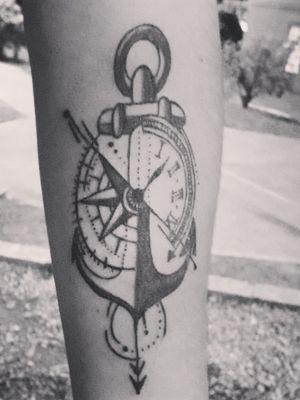 #ancla #brujula #reloj