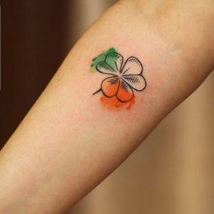 Irish clover Tattoo #irish #irishtattoo #clover