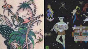Tattoo and Illustration by Matt Bivetto #MattBivetto #JacksonEpstein #SnailFarm #tattooart #tattoobook #surrealism #surreal #esoteric #blackandgrey #strange #symbolism #spiritual #medieval
