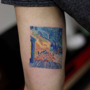 Tattoo by Hakan Adik #HakanAdik #besttattoos #favoritetattoos #awesometattoos #tattoodoapp #tattooartist #tattoodoappartists #VanGogh #painting #fineart #reproduction #oilpaint
