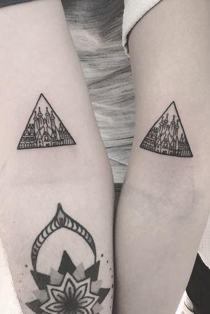 Matching barcelona tattoos