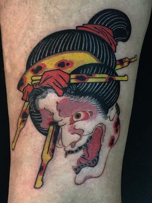 Tattoo by Haku #Haku #illustrative #neojapanese #japanese #koreanartist #japaneseinspired