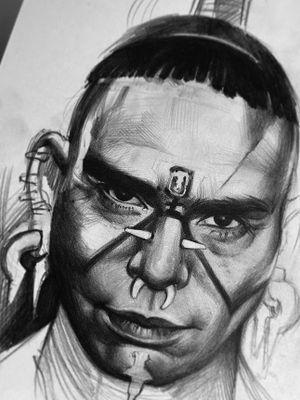 Apocalypto. Quick sketch #portraitdrawing #portraitphotography #apocalypto #movie #tribe #pencil #sketch #artist #photography #art #sketchbook #melgibson #warrior #maya #mayan #latinamerican