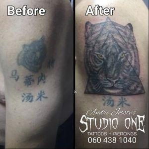 #tiger #blackandgray #coverup #tattoo #andre_jooste_tattoo #andre_jooste #lefthandtattoo #studio1 #ink #inked #inklife #inkstagram #vetastudios #tattoosocietyafrica #southafricantattoo I'm using: @bodygraphicstattoosupplysa @rrdtattoosupplies @moog_machines_ @lefthandtattooaftercare @criticaltattoosupply @fusion_ink