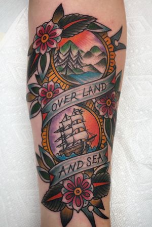 Traditional piece: Over Land & Sea