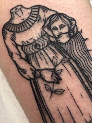tsss... #tattoo #tattoos #ink #inked #nun #peasant #girl #girltattoo #lady #ladytattoo #medieval #medievaltattoo #etching #etchingtattoo #engraving #engravingtattoo #linework #lineworktattoo #mxatattoo #monsteralphabet