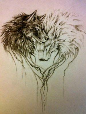 #wolf #Duett #Partner #liebe #familie #skitze #stencil #tattoo #follow #follower#tattoodo #frau #inkedgirl #inkedwoman #frischgestochen #follow #mone1971 #inkmaster #instatattoo #germantattooer #natur #tattoodopro #blackandgrey#instatattoo #germantattooer#natur