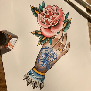 Tattoo flash by Alice SB #AliceSb #color #traditional #newschool #neotraditional #mashup #bold #bright