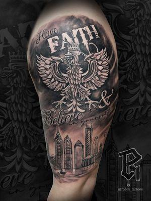 For Bookings: robinstattoos@gmail.com . . . . . . . . . #polisheagle #blackandgraytattoo #timelesstat2nj #tattoosbyrobin #njtattooartists #njtattooer #tattooartistsnj #nyctattooartist #nyc #tattooartists #newjerseytattooartists #bordentownnj #hamiltonnj