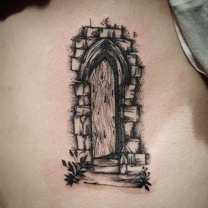 #blackworktattoo #sketchstyle #door #tattoo #berlintattoo #tätowierung