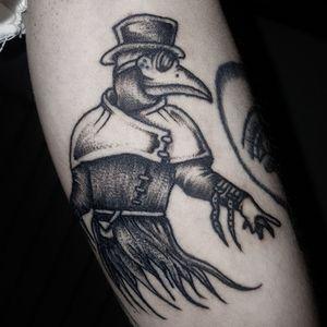 ☣A Plague Doctor☣ Done with: @fkirons @bishoprotary @worldfamousink @eternalink @stencilstuff @magicmoon_tattoo_supply #tattoo #tattooed #bestoftattoo #ink #inkedgirl #inkedmagazine #inkedman #traditional #neotradeu #traditionaltattoo #neotraditional #neotraditionaltattoo #inked #passion #picoftheday #blackandwhite #picoftheday #tattooflash