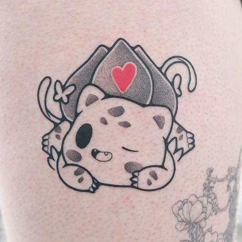 Tattoo by Hugocide #hugocide #cartoontattoos #cartoon #90s #newschool #tvshow #bulbasaur #pokemon #heart