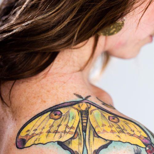 Moth shoulder photo by Klover