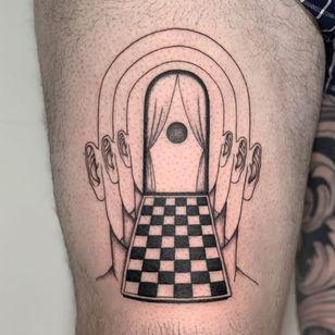 Tattoo by Inaki Aires #AnakiAires #surreal #portrait #illustrative #fineline #sun #tipping #tipyourartist #tippingmakesithurtless #tippingisappreciated