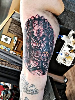 Cool portrait of predator that I got to do today Fusion ink Workhorse cartridge needles