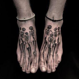 Tattoo by Servadio #Servadio #Londontattoo #London #Londontattooartist #londontattoostudio #UK #illustrative #skull #skeleton #blackwork