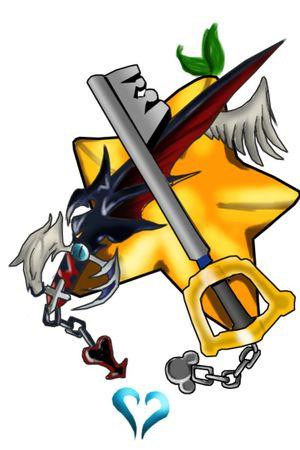 Sora & Riku keyblade Kingdom Hearts