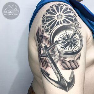 #realism #marine #compass #anchor