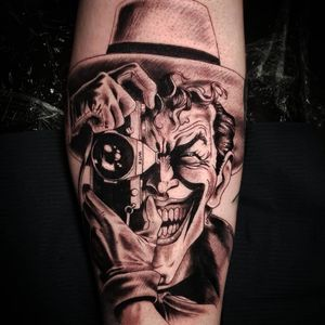 Black and grey Joker tattoo #blackandgreytattoo #blackandgrey #realistic #realism #realistictattoo#blackandgraytattoo #blackandgraytattoos #tattoo #jokertattoo #Joker #batmanjoker #batmantattoo