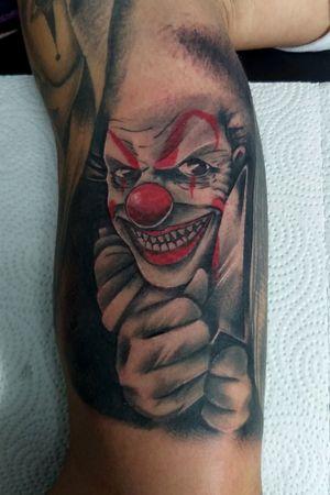 Payaso malo #tattoo #clowntattoo #CostaRicaTattoo