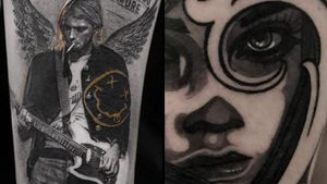 Tattoo on the left by Coldgray and tattoo on the right by Celiozzi #Coldgray #Celiozzo #besttattoos #tattoodoapp #appspotlight #spotlight #best #awesome #cool
