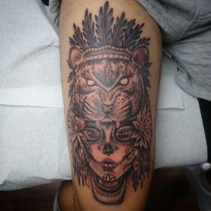 Jaguar Queen, done Whit kaco Tattoo machine vorace. Entre Lagos Tattoo & Art Gallery Centralstrasse 42 Interlaken WhatsApp :079 448 35 83 Facebook :jairo ramirez art Instagram :JAIRO_RAMIREZART Www.entrelagostattooartgallery.com Jairoramirezart@gmail.com#jairoramirezart #blackandgrey #blackandgreytattoo #tattoo #blackandgreytattoos #tattooer #rosestattoos #rosestattoo #compasstattoo#photooftheday