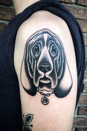 #hellhound #blackwork #blacktattoo #dogtattoo #blackink #nashville