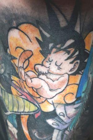 #babysongoku #songoku #sayan #dragonballtattoo #dragonball #color #gaspartattoos