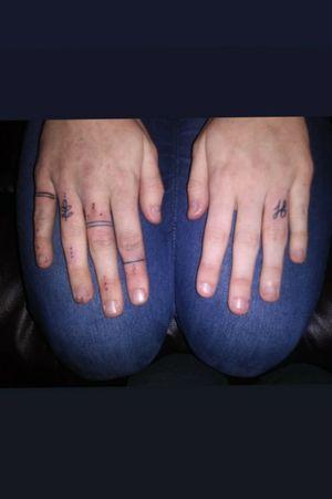 Hand tattoos Lettering Script Hippie