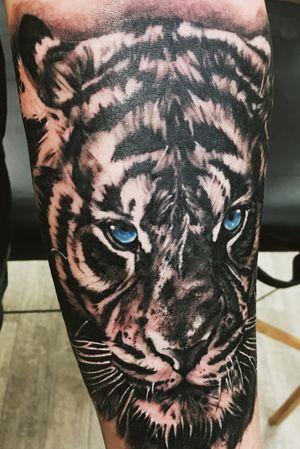 #tiger #realistictattoo #animal #blackandgrey