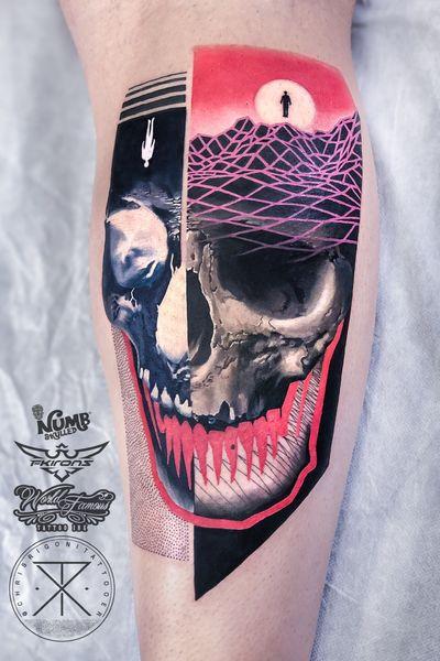Thank you! @tattoodo Ambassador #tattoodo Tattooed using #worldfamousink @worldfamousink @_numb_skulled #_numb_skulled @fkirons Xion #fkirons #fkironsxion @bloodlinesinknorthperth #bloodlinesinknorthperth #dermalizeproofficial #stencilanchored #sabertattooequipment #chrisrigonitattooer #chrisrigoni #tattoo