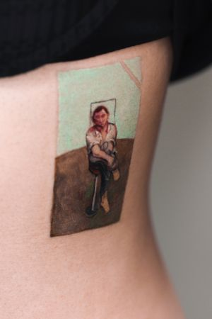 painting of Francis Bacon #illustrative #painting #colortattoo #watercolortattoo #cloudtattoo #Korea