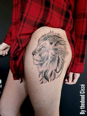 Black and grey lion tattoo work by thedoud Cissé  @prilaga  #tattooing #tattoo2me #tattooflash #prilaga #tattoodo #tattoooftheday #tattoos #tattoostyle #tattoo #tattoolife #tattooinspiration #tattooartist #tattoolove #tattooed #tattoodesign #tattooer #tattooart #tattoosleeve #tattoosofinstagram #tattooist #tattoosketch #tattoolovers #tattoomodel