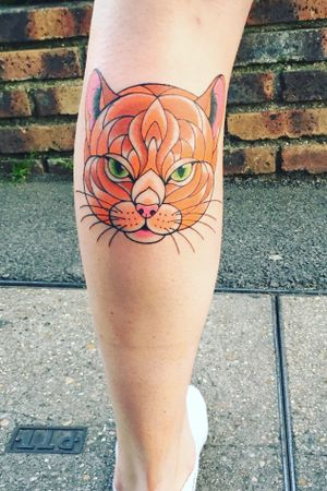 #cat #animal #ginger #geometric