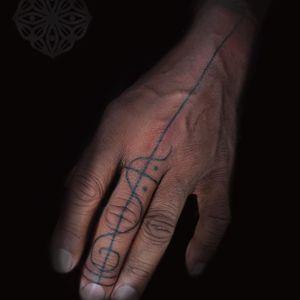 Hand poked and free hand design