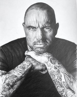 Joe Rogan. Done with Graphite Pencil on 250g A4 Bristol Board. Around 30 hours.